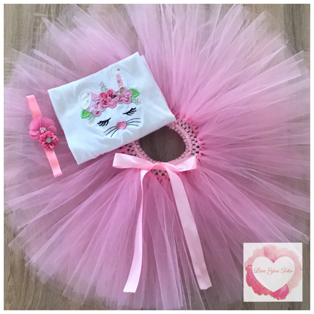 Embroidered Bunny tutu set