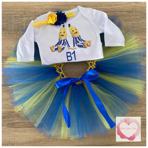 Bananas in pyjamas personalised tutu set