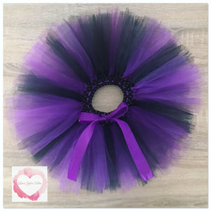 Black & purple short Tutu skirt