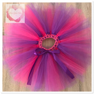 Purple & Fuchsia short Tutu skirt