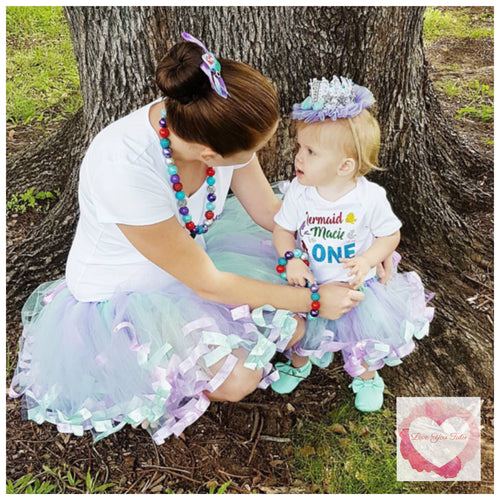 Mummy & Me matching short ribbon trimmed tutus