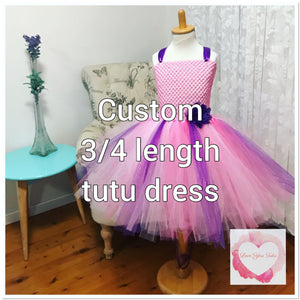 *Custom 3/4 length Tutu dress