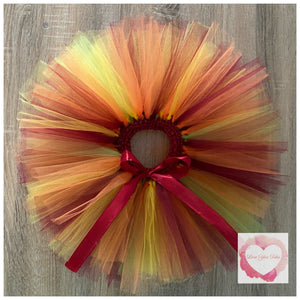 Autumn inspired short tutu skirt