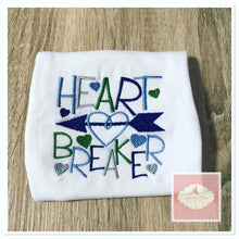 Load image into Gallery viewer, Embroidered heart breaker design
