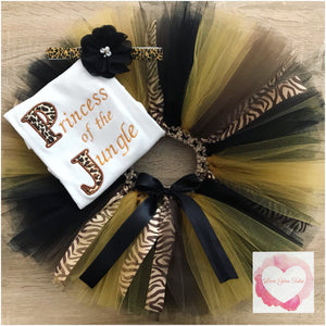 Embroidered Jungle Princess tutu set