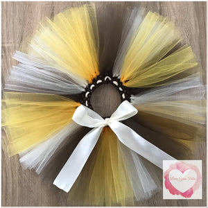 Brown, gold & ivory short Tutu skirt
