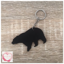 Load image into Gallery viewer, Personalised bear keyring