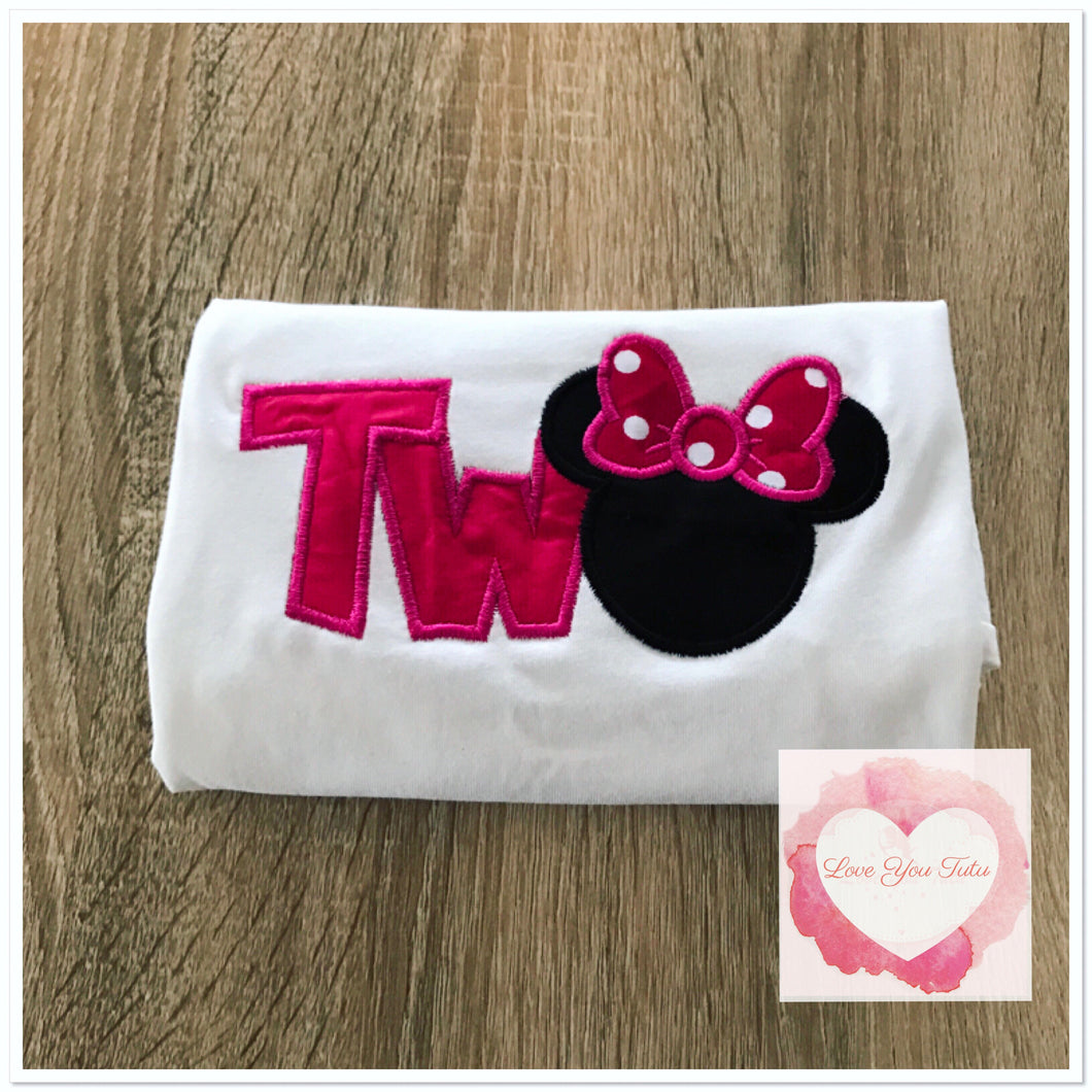 Embroidered Minnie Mouse two design