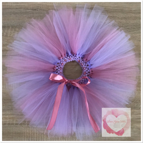 Lavender and Rose Mauve short Tutu skirt