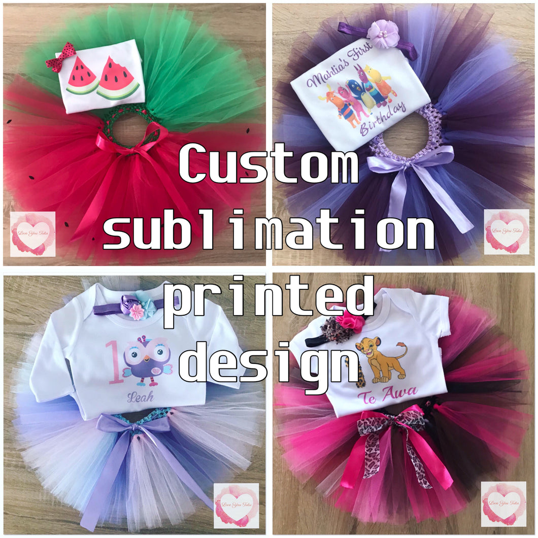 *Custom sublimation personalised tutu set