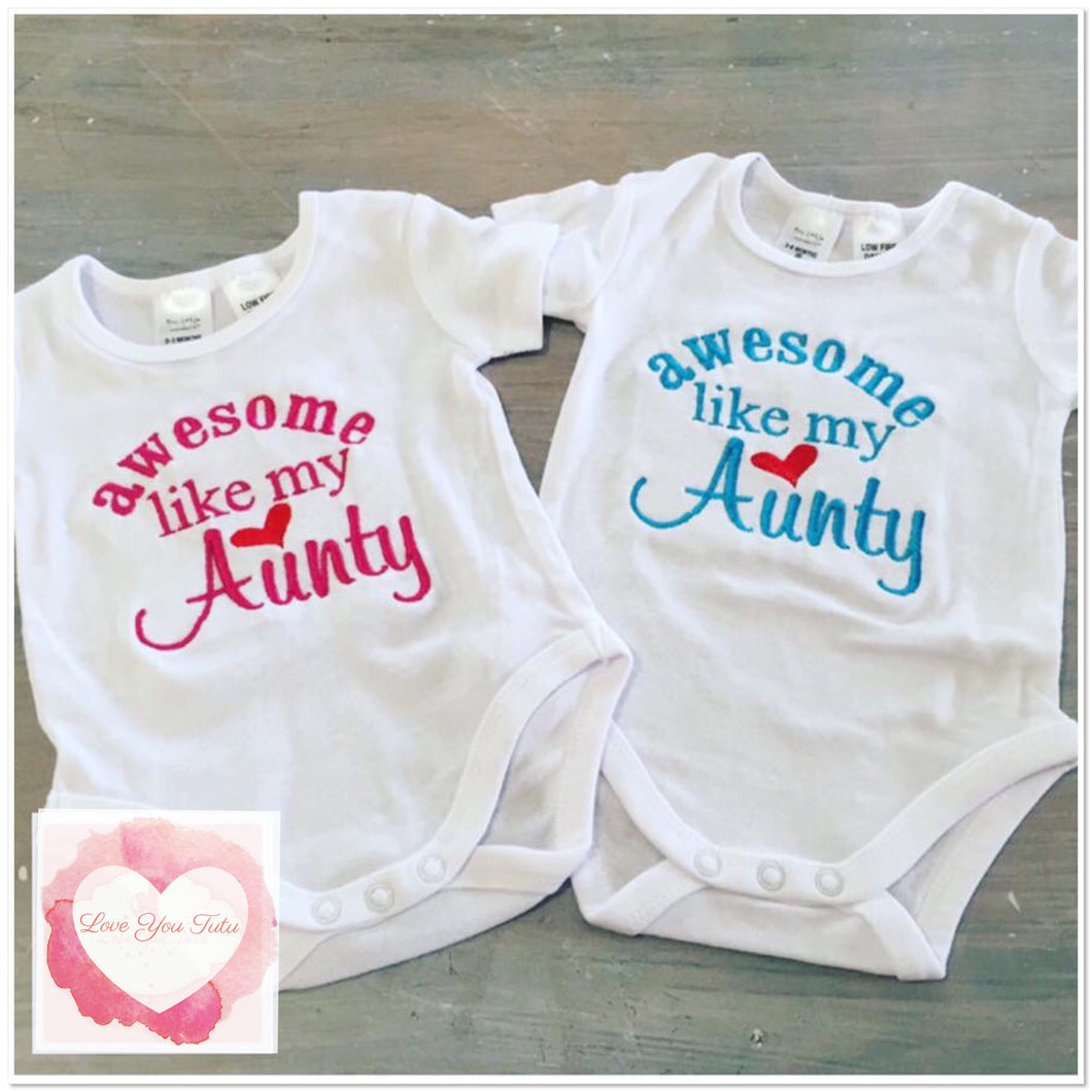Embroidered Aunty design