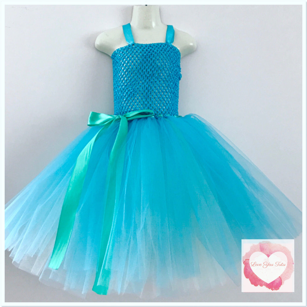 Princess Poppy troll coloured Tutu dress