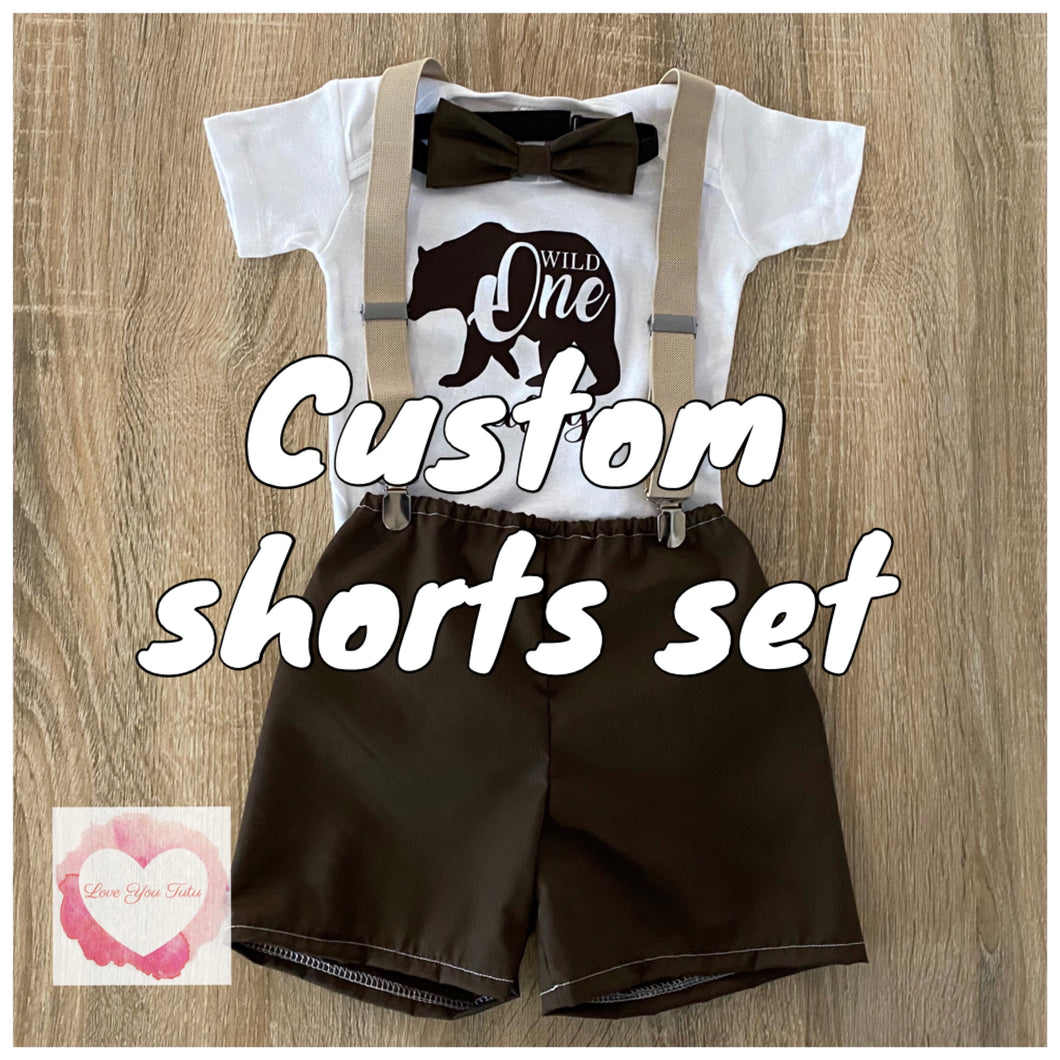 Custom shorts 3 piece set