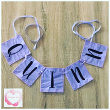 Load image into Gallery viewer, Embroidered Personalised square bunting