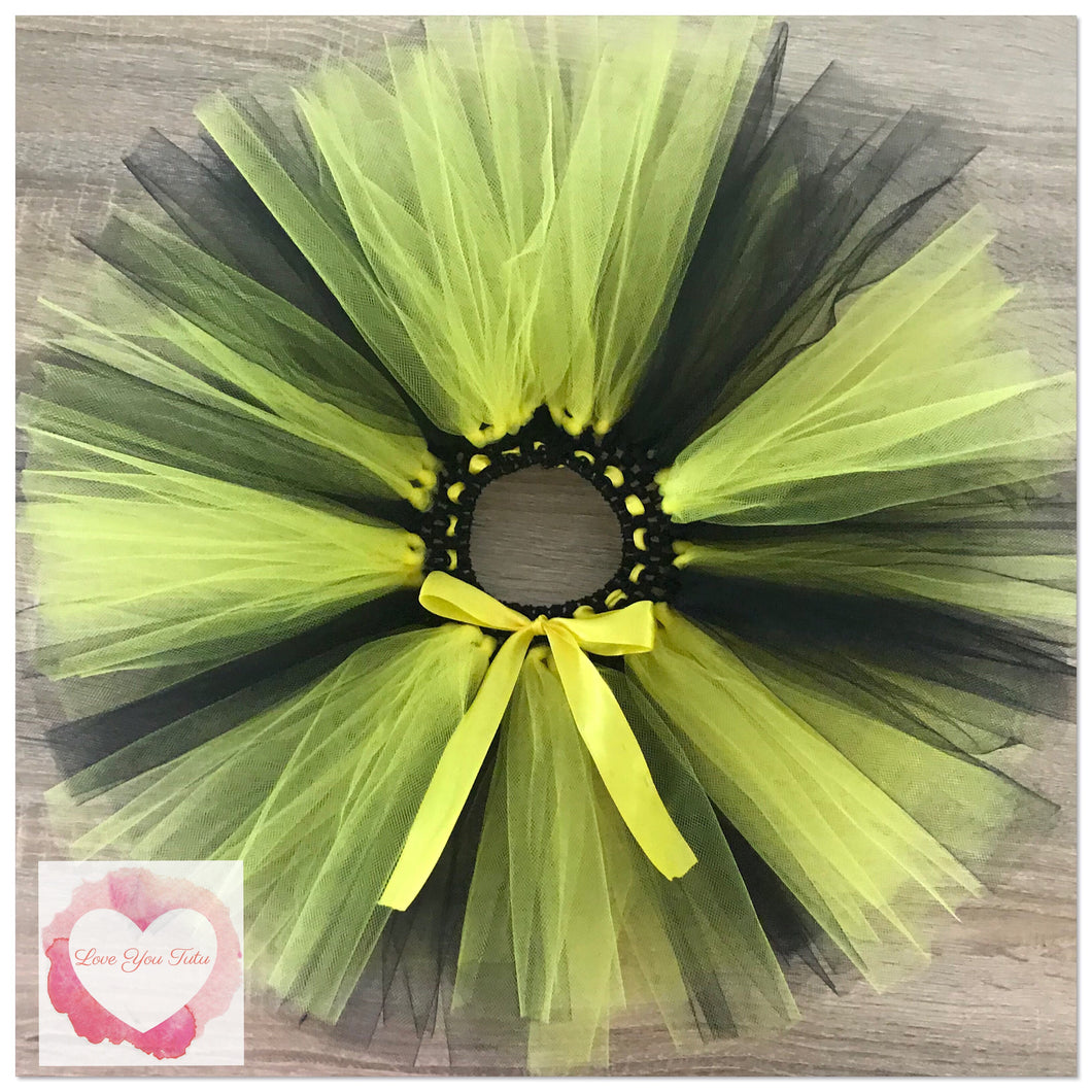 Black and yellow alternating short Tutu skirt