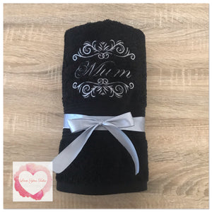 Embroidered Mum towel