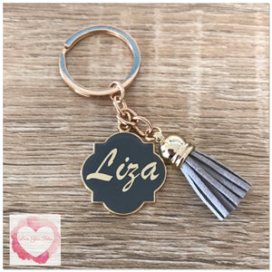Personalised tassel keyring various colours