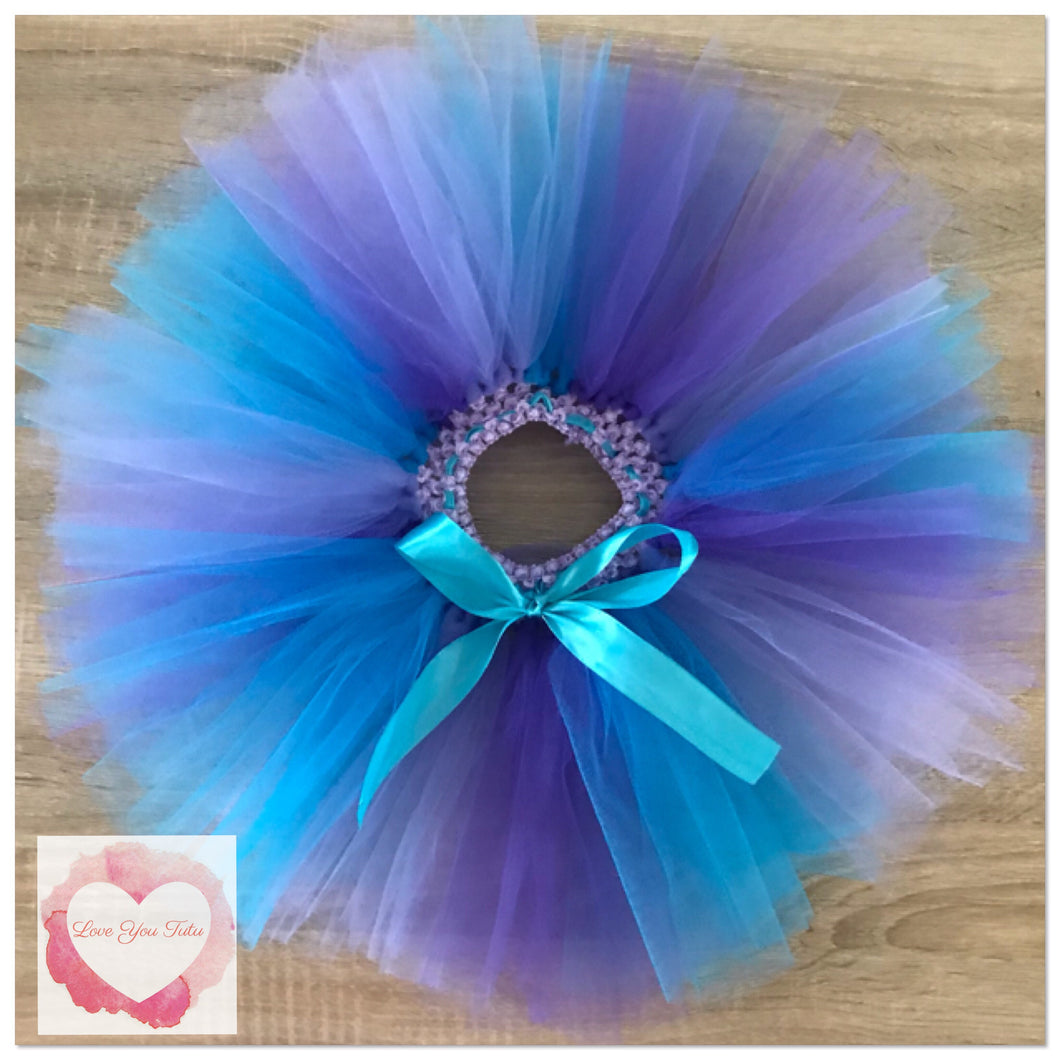 Purple, lavender & turquoise short Tutu skirt