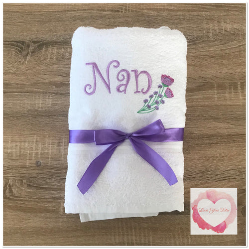 Embroidered Nan towel