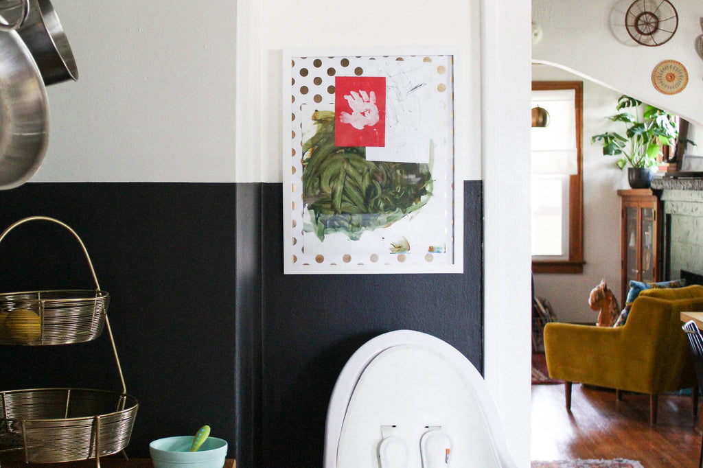 a 5-minute DIY kids' art display that'll make it look like a masterpiece
