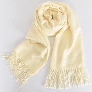 Adorne Essential Soft Fringe Edge Scarf - Cream
