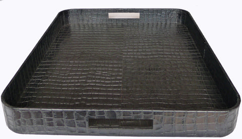 Kussani Leather Tray Black 50cm x 60cm x 6cm KT7BC