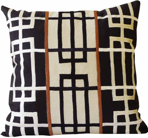 Kussani Cushion Cover Black Rubics 45cm x 45cm K444