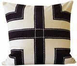 Kussani Cushion Cover Black Grid 50cm x 50cm K447