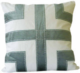 Kussani Cushion Cover Sage Grid 50cm x 50cm K449