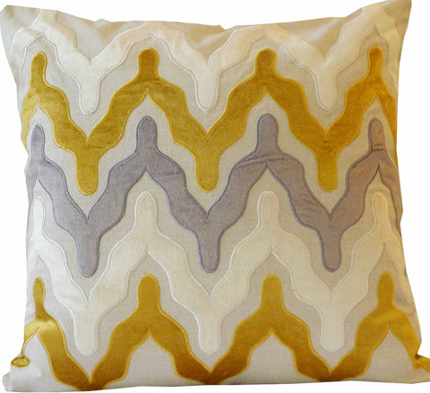 Kussani Cushion Cover Mustard Profile 50cm x 50cm K453