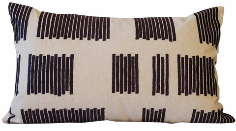 Kussani Cushion Cover Black Vent 30cm x 50cm K459