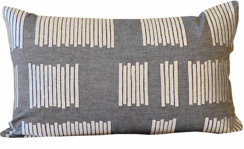 Kussani Cushion Cover Grey Vent 30cm x 50cm K460