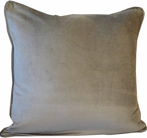 Kussani Cushion Cover Grey Velvet 50cm x 50cm K465