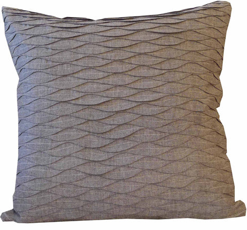 Kussani Cushion Cover Grey Pleat 50cm x 50cm K468