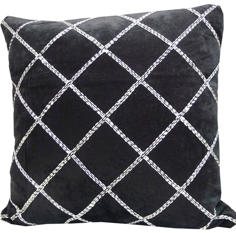 Kussani Cushion Cover Black Deco 50cm x 50cm K440