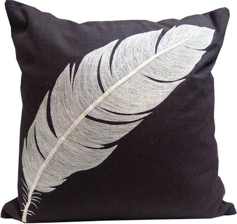 Kussani Cushion Cover Black Feather 45cm x 45cm K370