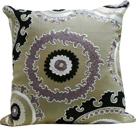 Kussani Cushion Cover Taupe Medallion 45cm x 45cm K388