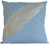 Kussani Cushion Cover Blue Feather 45cm x 45cm K405