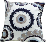 Kussani Cushion Cover Blue Medallion 45cm x 45cm K389