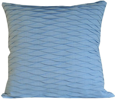 Kussani Cushion Cover Blue Pleat 55cm x 55cm K415