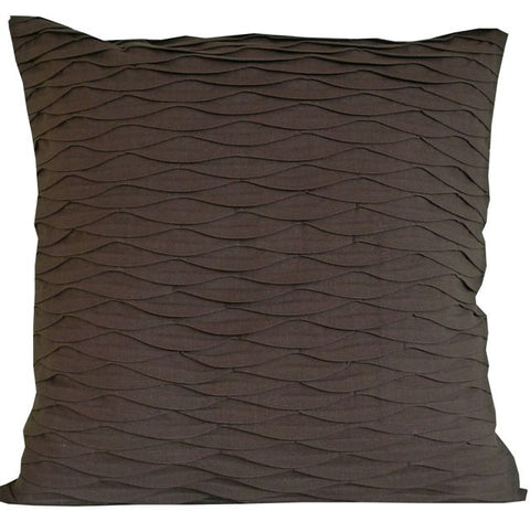 Kussani Cushion Cover Brown Pleat 55cm x 55cm K423