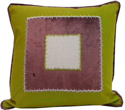 Kussani Cushion Lime Window 45cm x 45cm K433