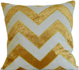 Kussani Cushion Cover Mustard Chevron 45cm x 45cm K408