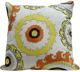 Kussani Cushion Cover Mustard Medallion 45cm x 45cm K387