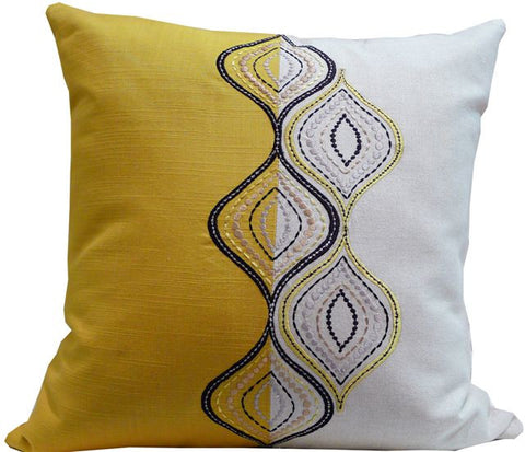 Kussani Cushion Cover Mustard Ripple 50cm x 50cm K360