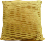 Kussani Cushion Cover Mustard Pleat 55cm x 55cm K402