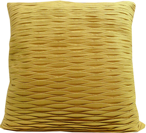Kussani Cushion Cover Mustard Pleat 50cm x 50cm K390