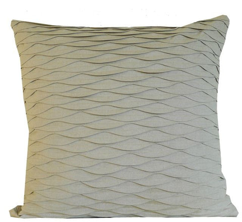 Kussani Cushion Cover Natural Pleat 55cm x 55cm K421