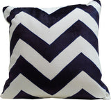 Kussani Cushion Cover Blue Navy Chevron 45cm x 45cm K378