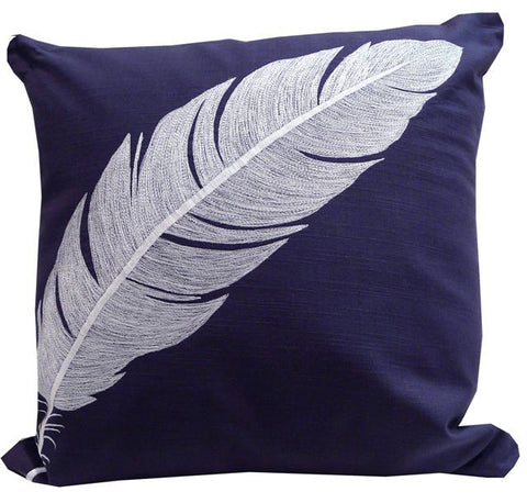 Kussani Cushion Cover Blue Navy Feather 45cm x 45cm K373